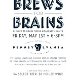 Kick off to Brews for Brains… May 1st